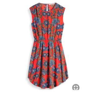EUC Collective Concepts red floral Katelynn dress